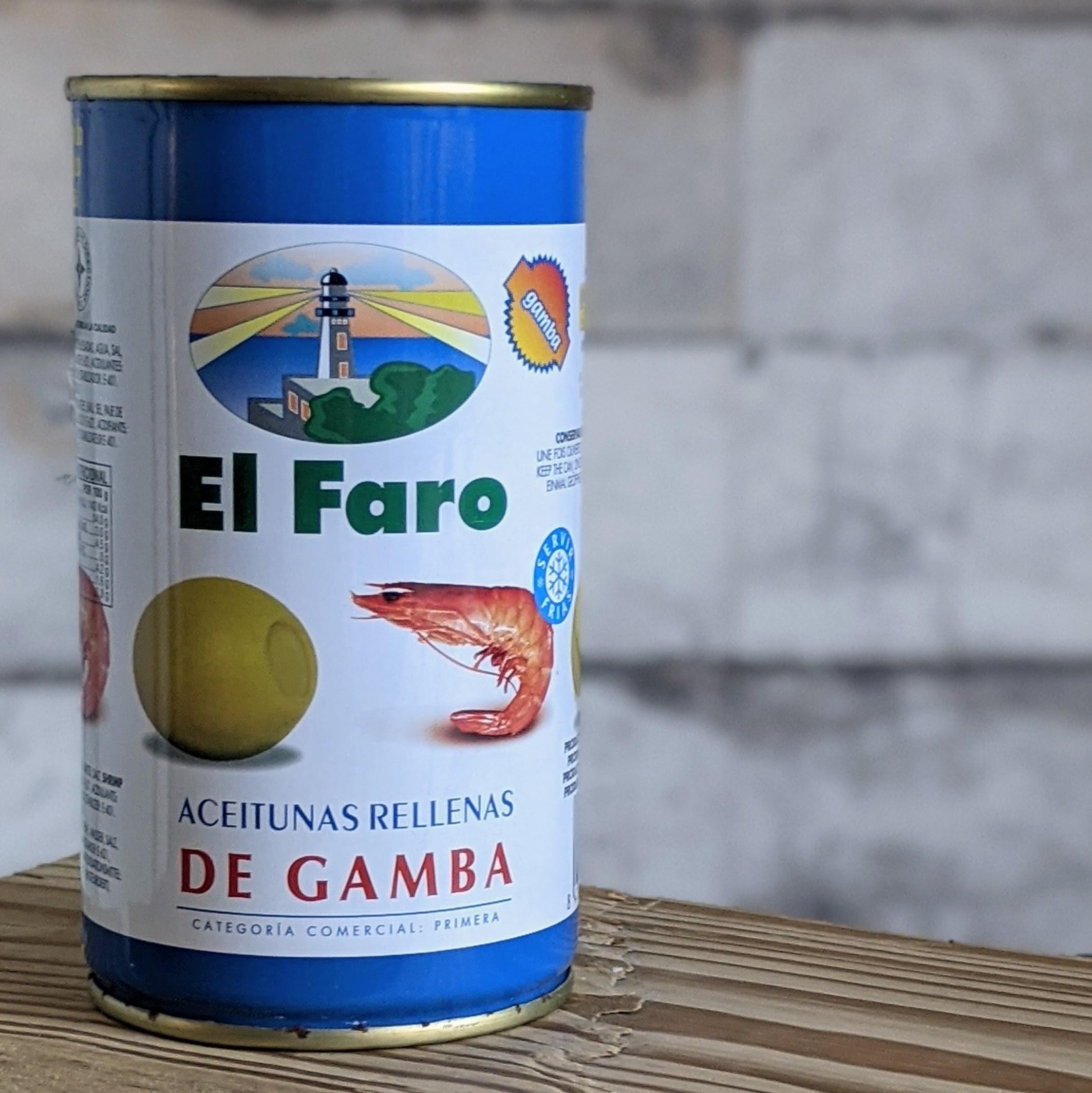 El Faro Grüne Oliven de Gamba, 350g