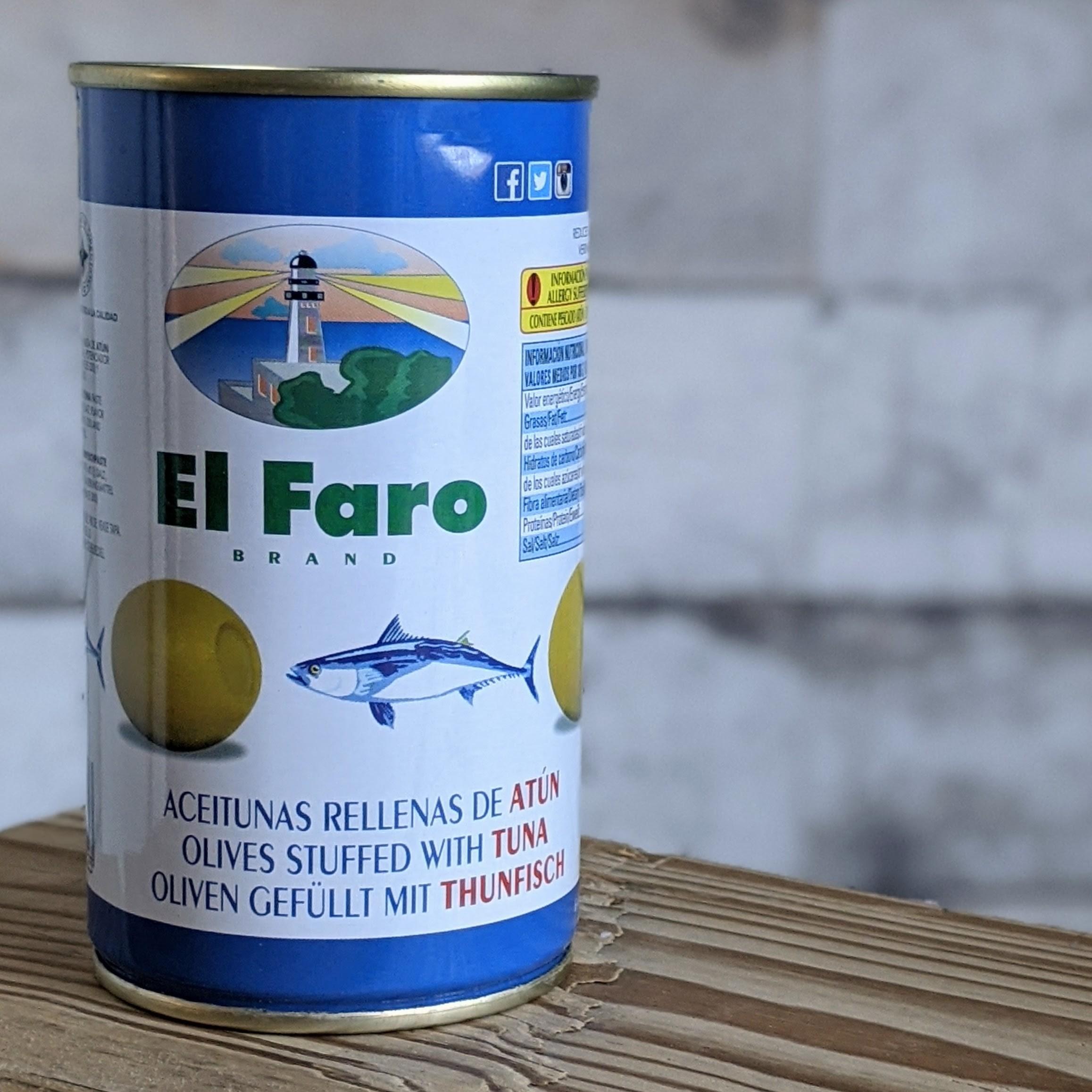 El Faro Grüne Oliven Atun, 350g