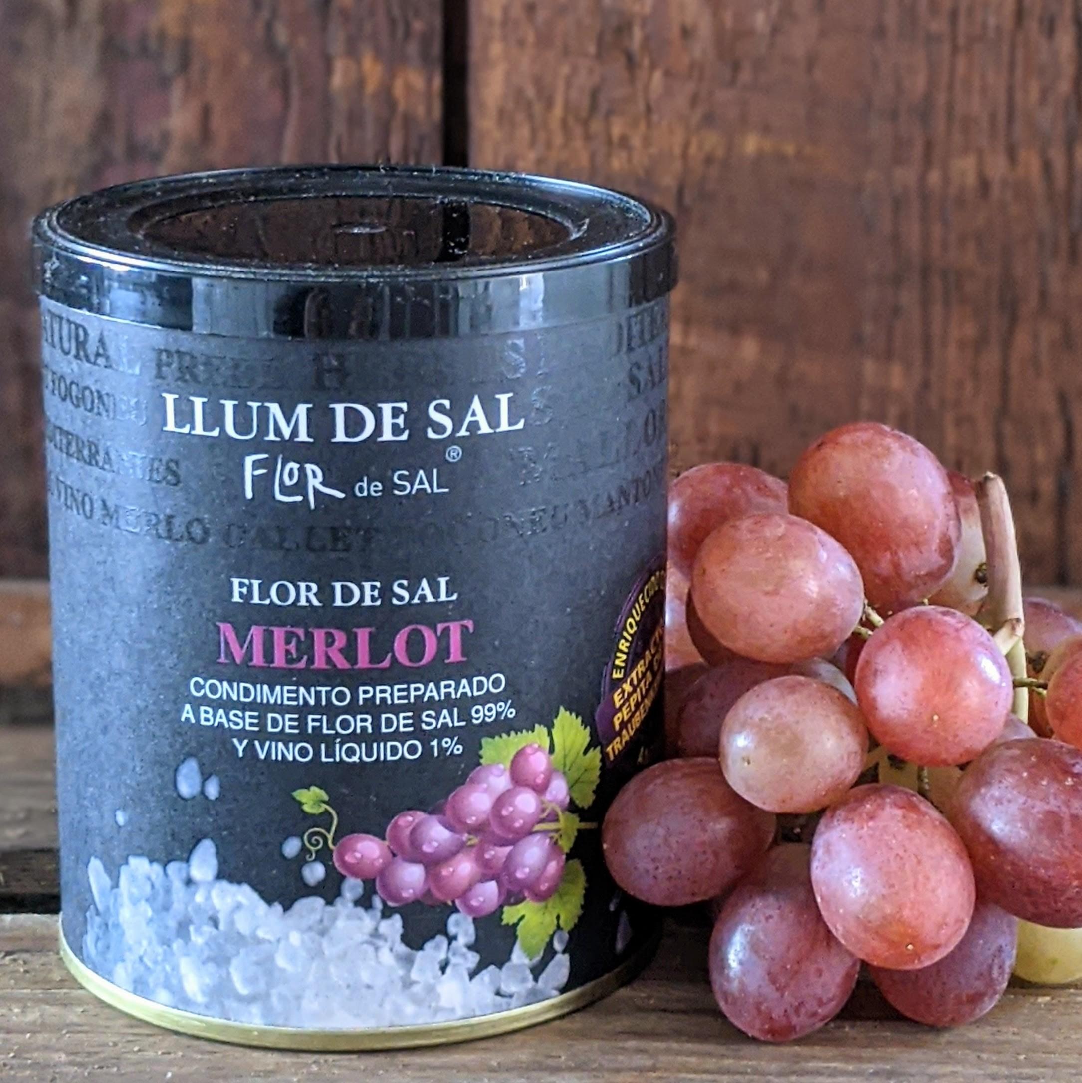 Meersalz mit Merlot - Llum Flor de Sal Mallorca, 150g