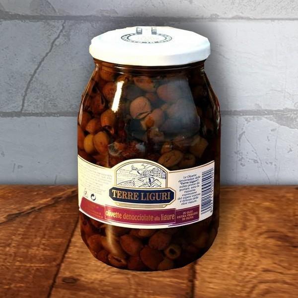 ligurische Oliven, 950g, Taggiasca Qualität von Terre Liguri