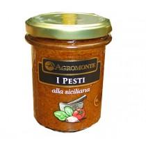 Agromonte Pikant abgeschmecktes rotes Pesto  200g