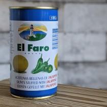 El Faro Grüne Oliven mit Jalapenos, 350g