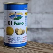El Faro Grüne Oliven Almendra, 350g