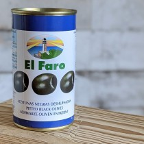 El Faro schwarze Oliven, 350g